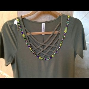 Long blue and green Lia Sophia necklace